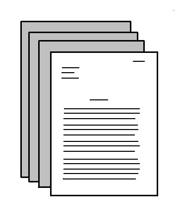 File:Essay Icon.JPG Description English: Drawn image of an essay.