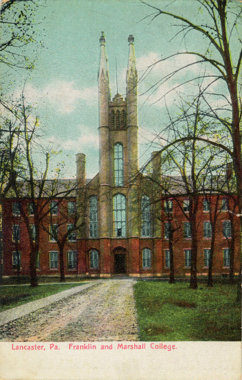 Old Main, the central building in the Franklin...
