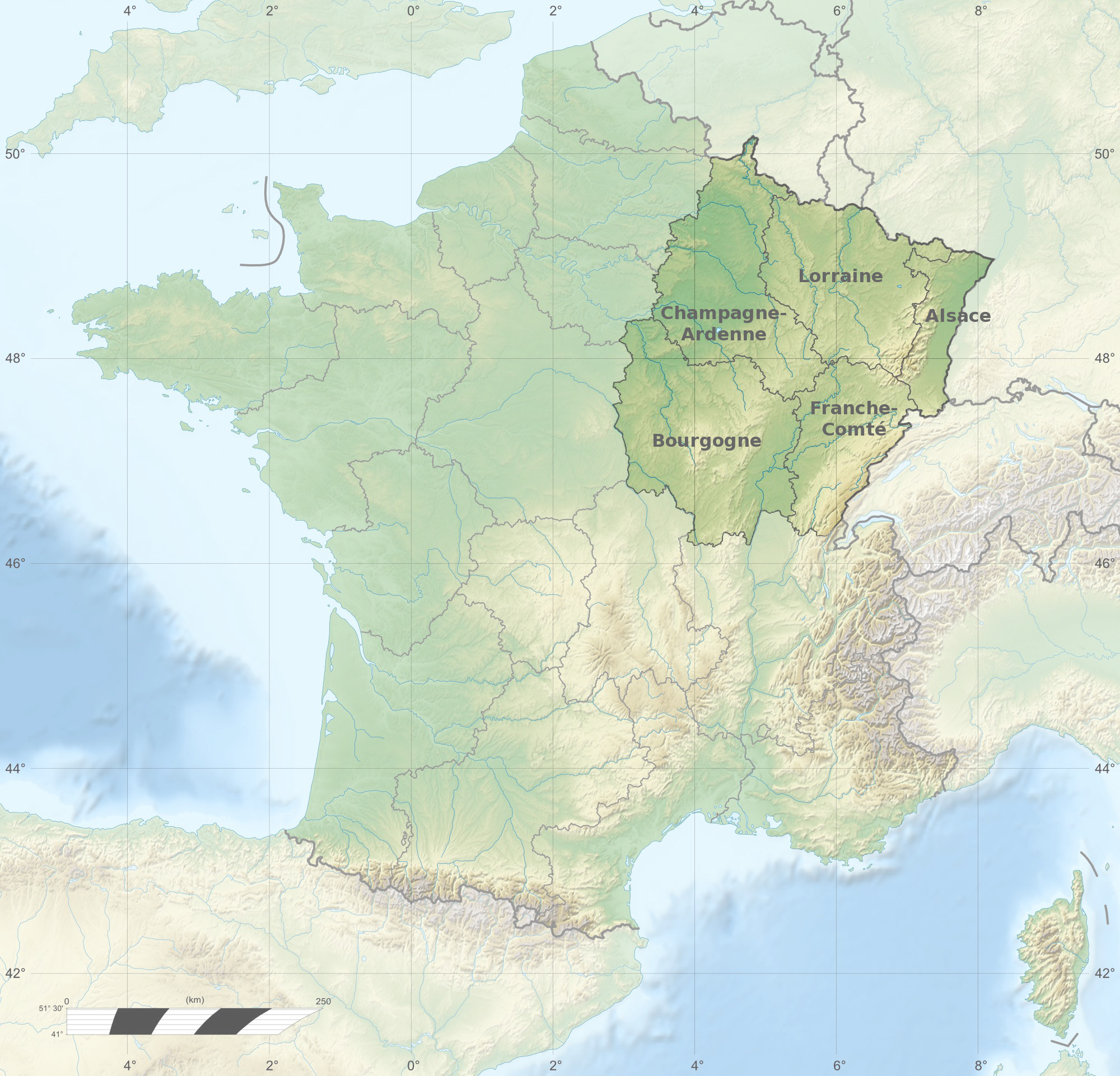 File France Large East Topographic Map Fr Png Wikimedia Commons