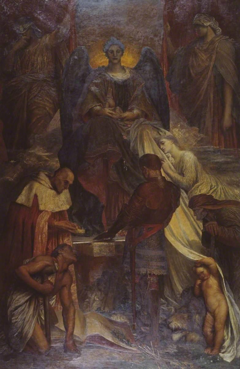 Джордж Фредерик Уоттс (1817-1904) (и помощники) - Суд смерти - N01894 - Национальный Gallery.jpg