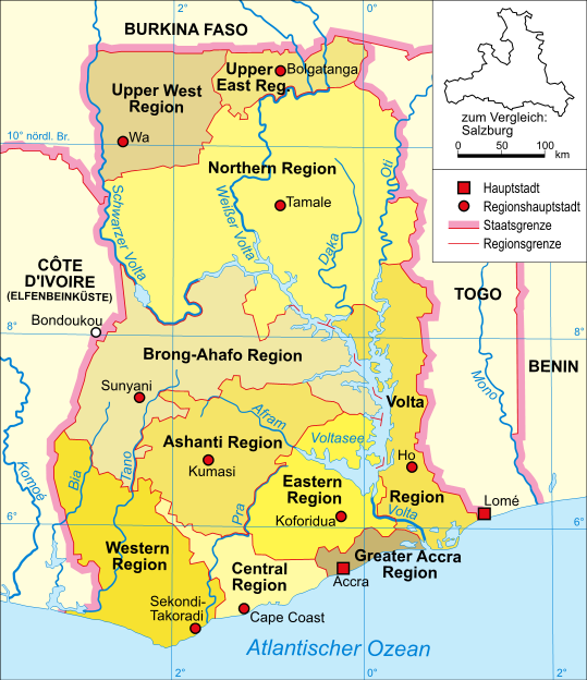 Atlas Of Ghana Wikimedia Commons - Map of ghana