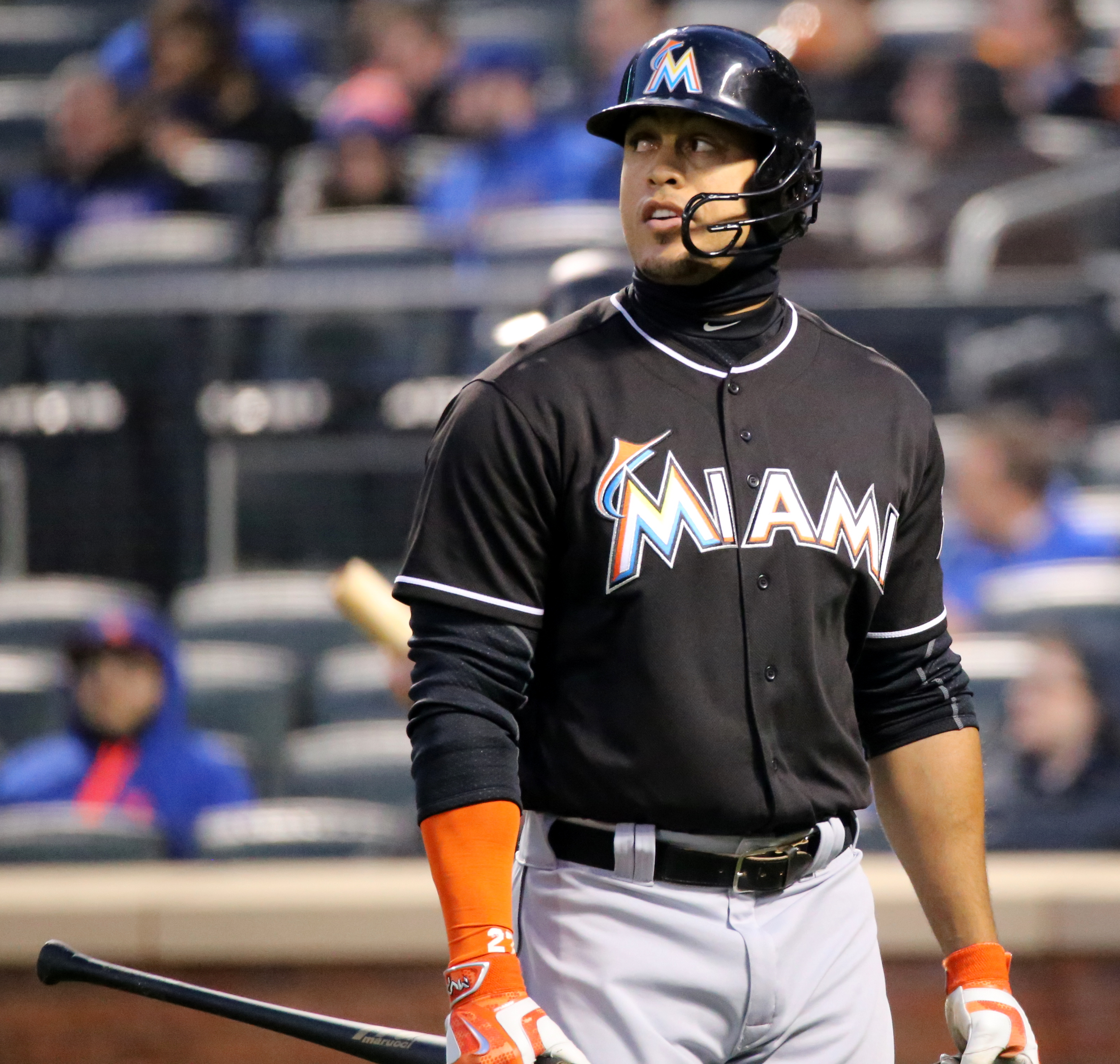 Giancarlo Stanton: File:Giancarlo Stanton On April 12, 2016.jpg