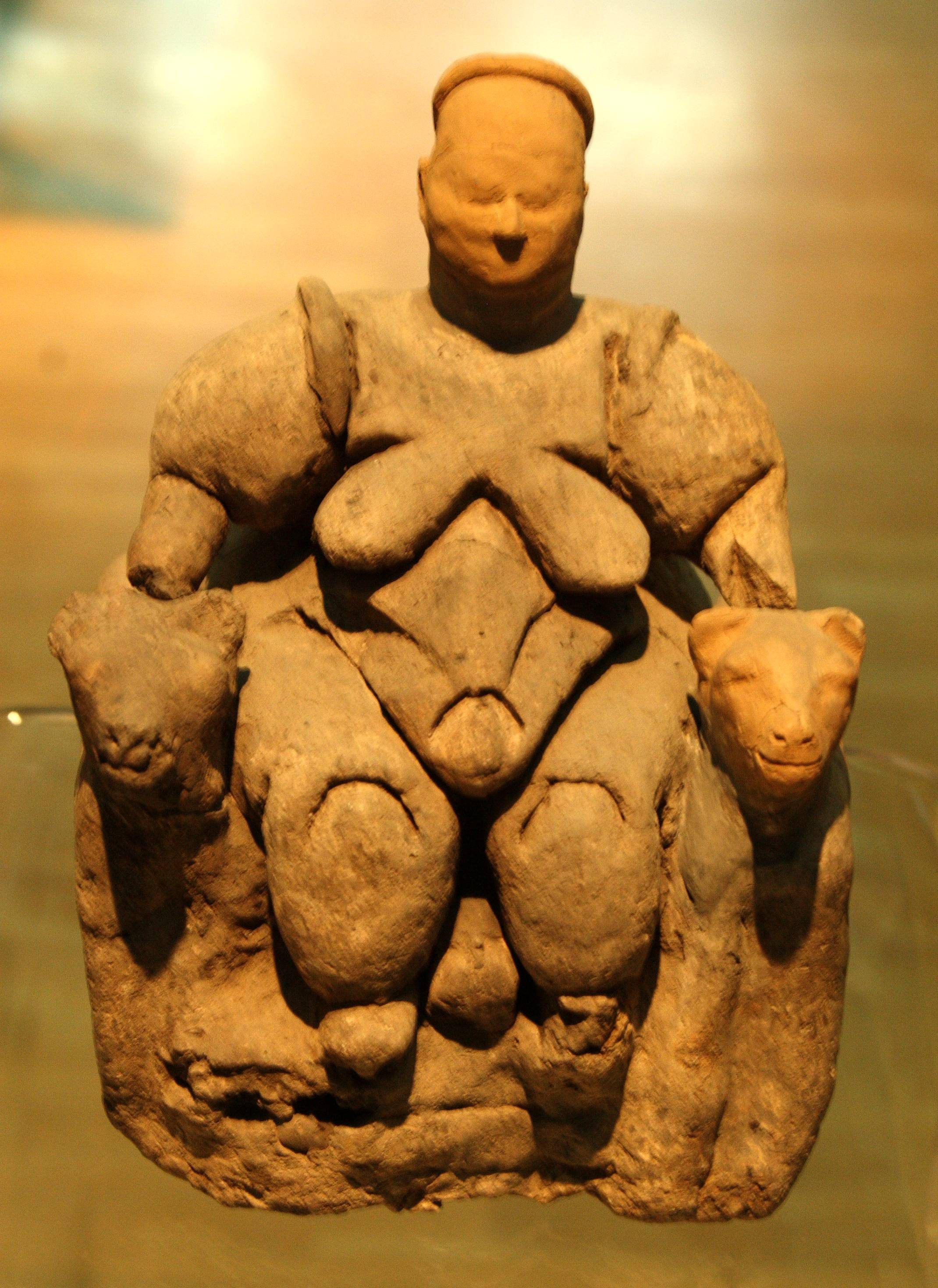 File:Goddess of Fertility, Museum of Anatolian Civilisations ...