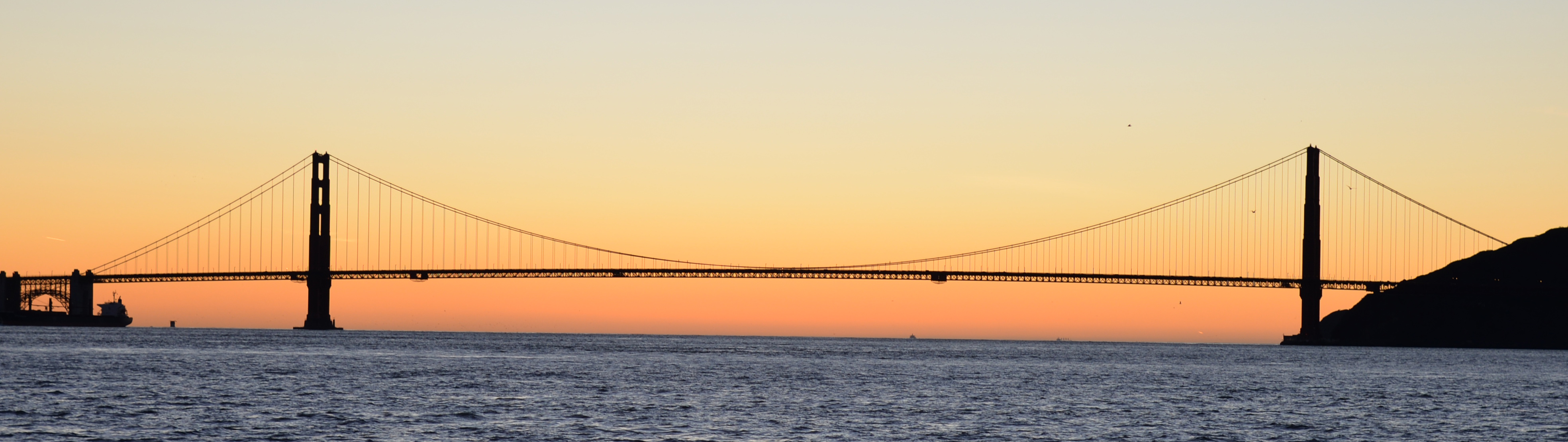 picture of the golden gate bridge at sunset for travel article