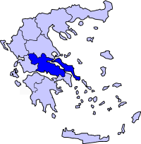 Location of Yunani Tengah Periphery in Greece