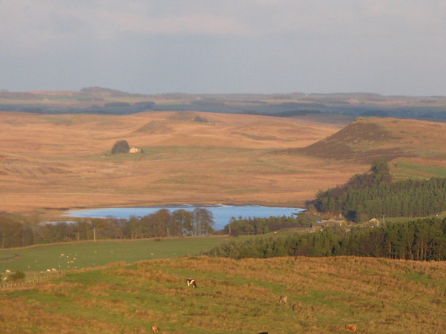 Greenlee Lough and beyond - geograph.org.uk - 610454