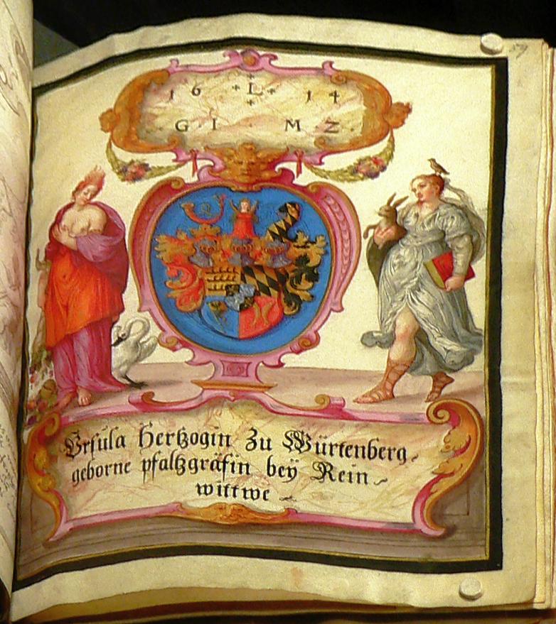 Großes Stammbuch Hainhofer Eintrag Ursula zu Württemberg.jpg