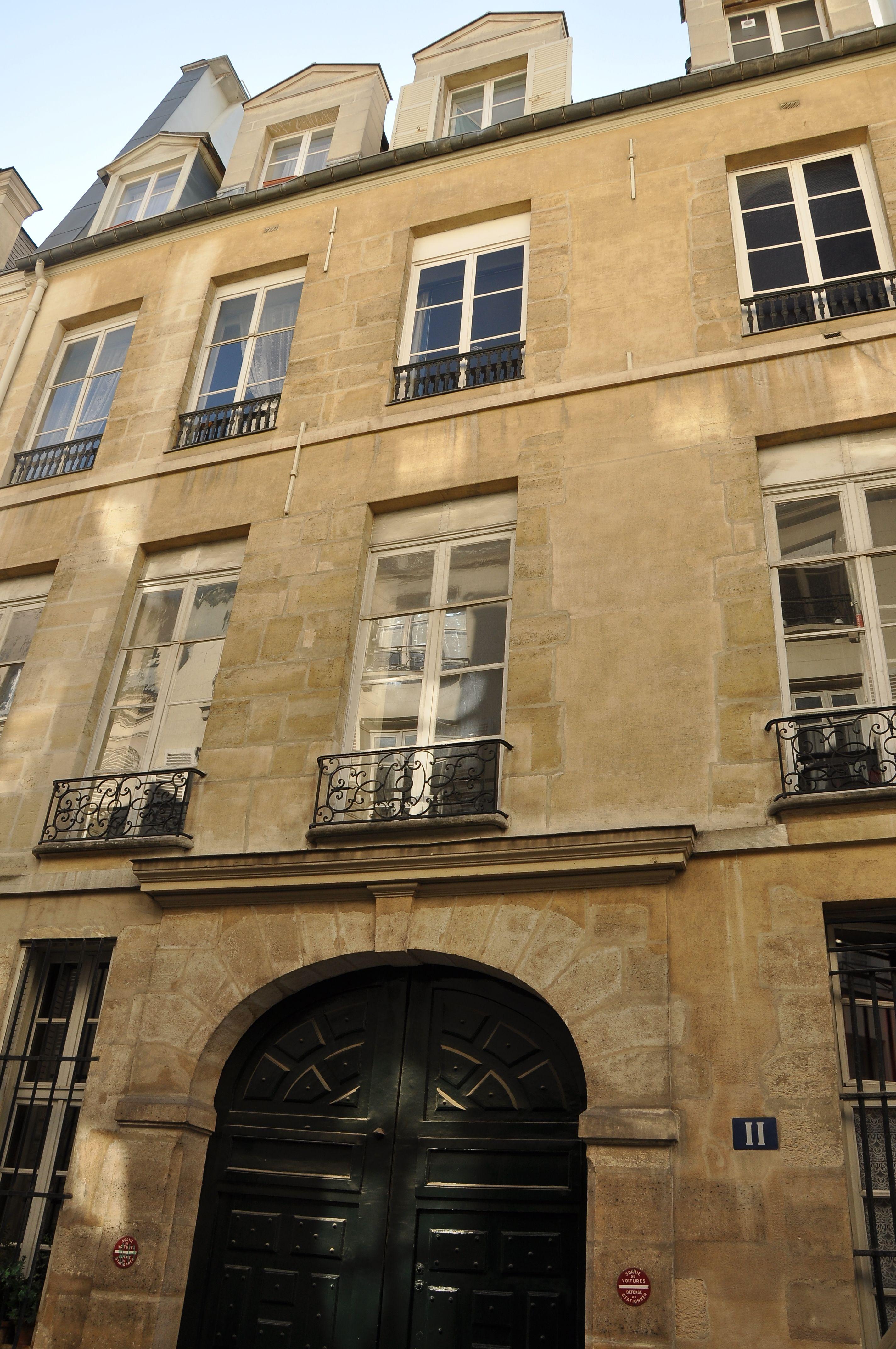 File h tel particulier 11 rue saint louis en l 39 ile paris wikimedia commons - Hotel ile saint louis ...
