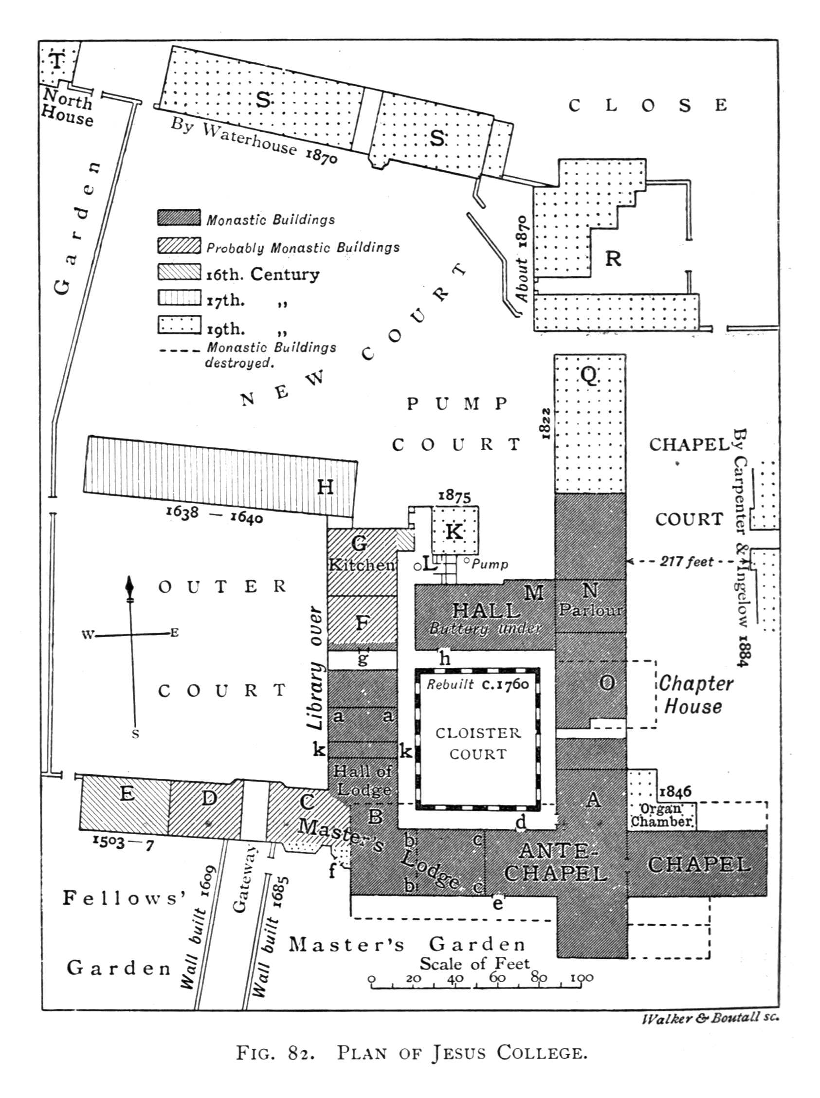 File Historical Plan Of Jesus College Cambridge 1897