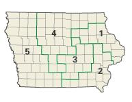 Iowa districts in these elections