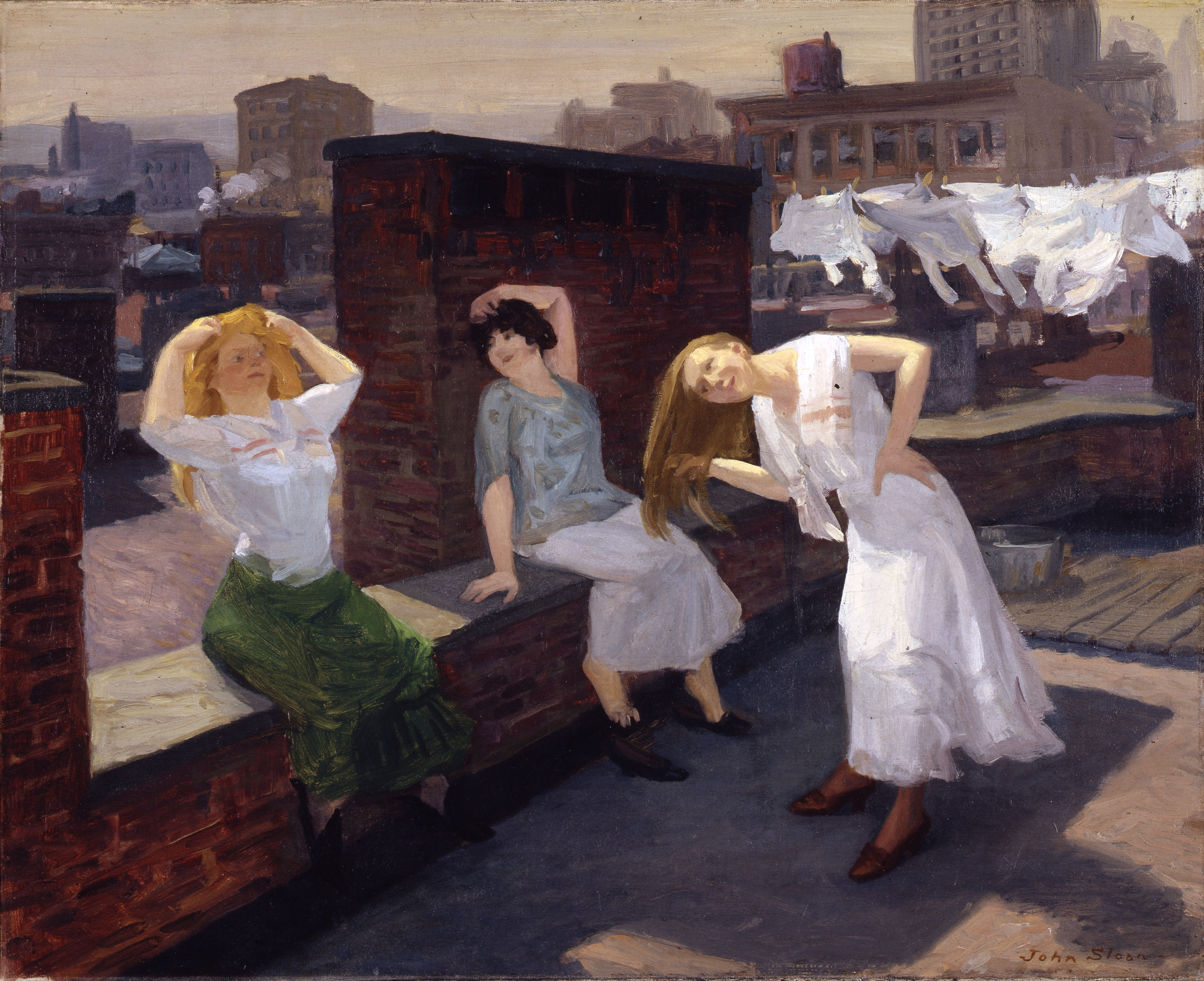 File john sloan sunday women drying their for French shows