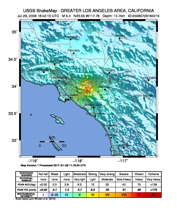 Earthquake San Diego >> 2008 Chino Hills earthquake - Wikipedia