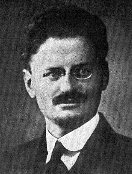 Leon Trotsky in 1918.