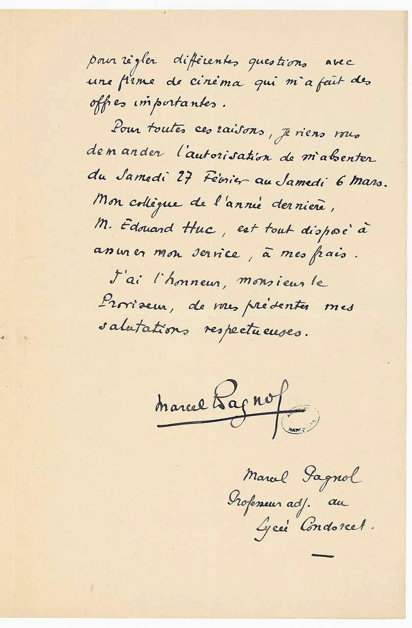 lettre manuscrite File:Lettre manuscrite de Marcel Pagnol 2   Archives Nationales  lettre manuscrite