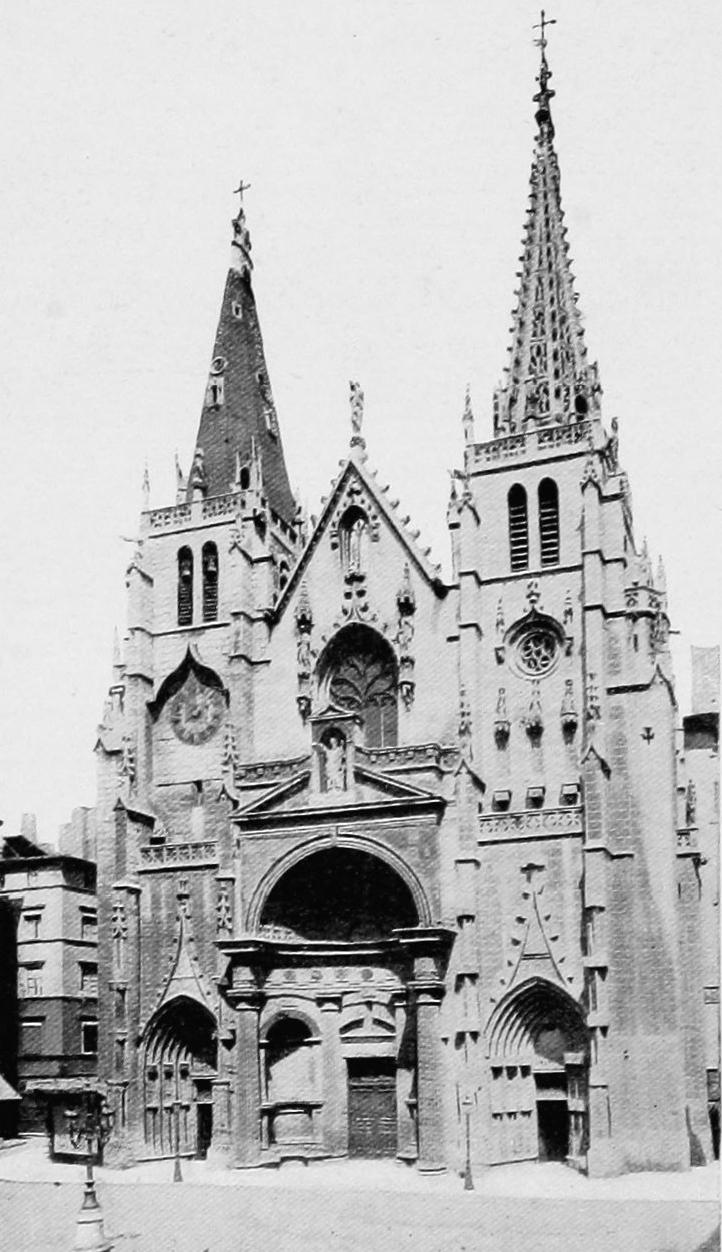 Eglise Saint Nizier à Lyon vers 1900
