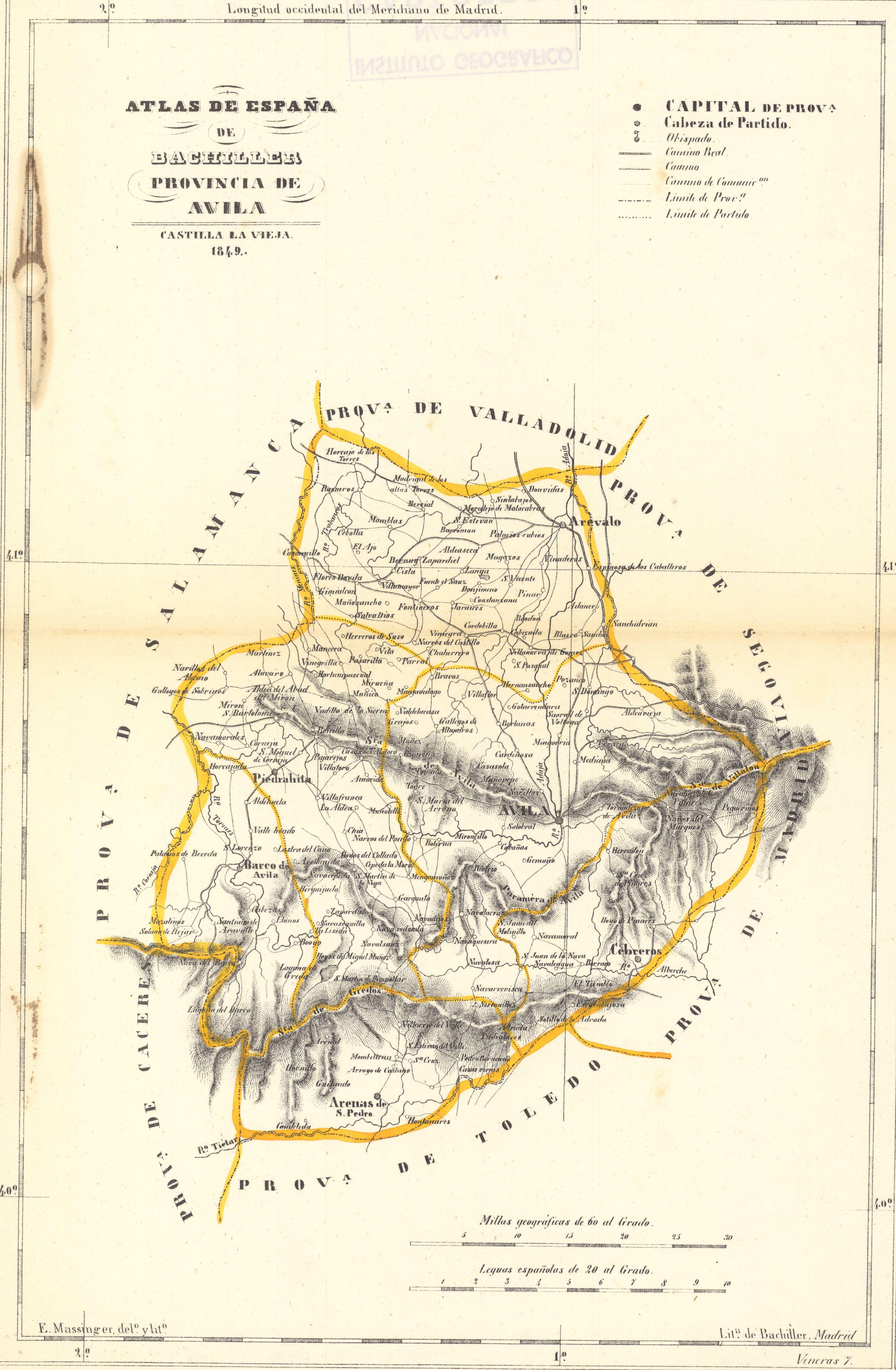 Archivo Mapa De Avila En 1849 Jpg Wikipedia La Enciclopedia Libre