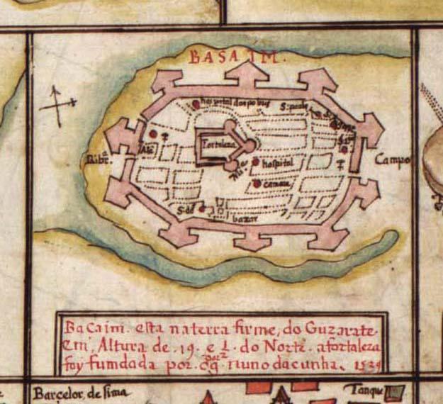 Map Of Bassein Vasai A Important Town Near Mumbai From