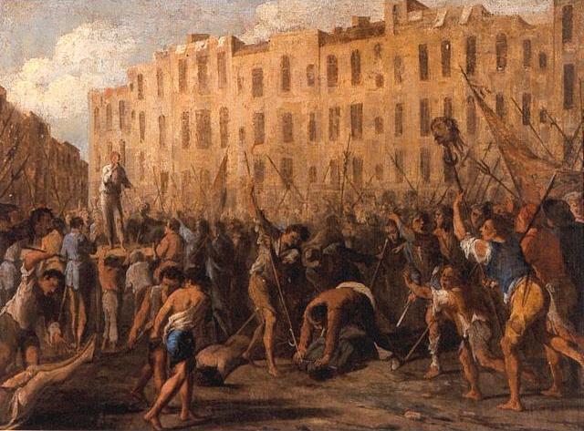Episode de la révolte de Masaniello par Micco Spadaro.