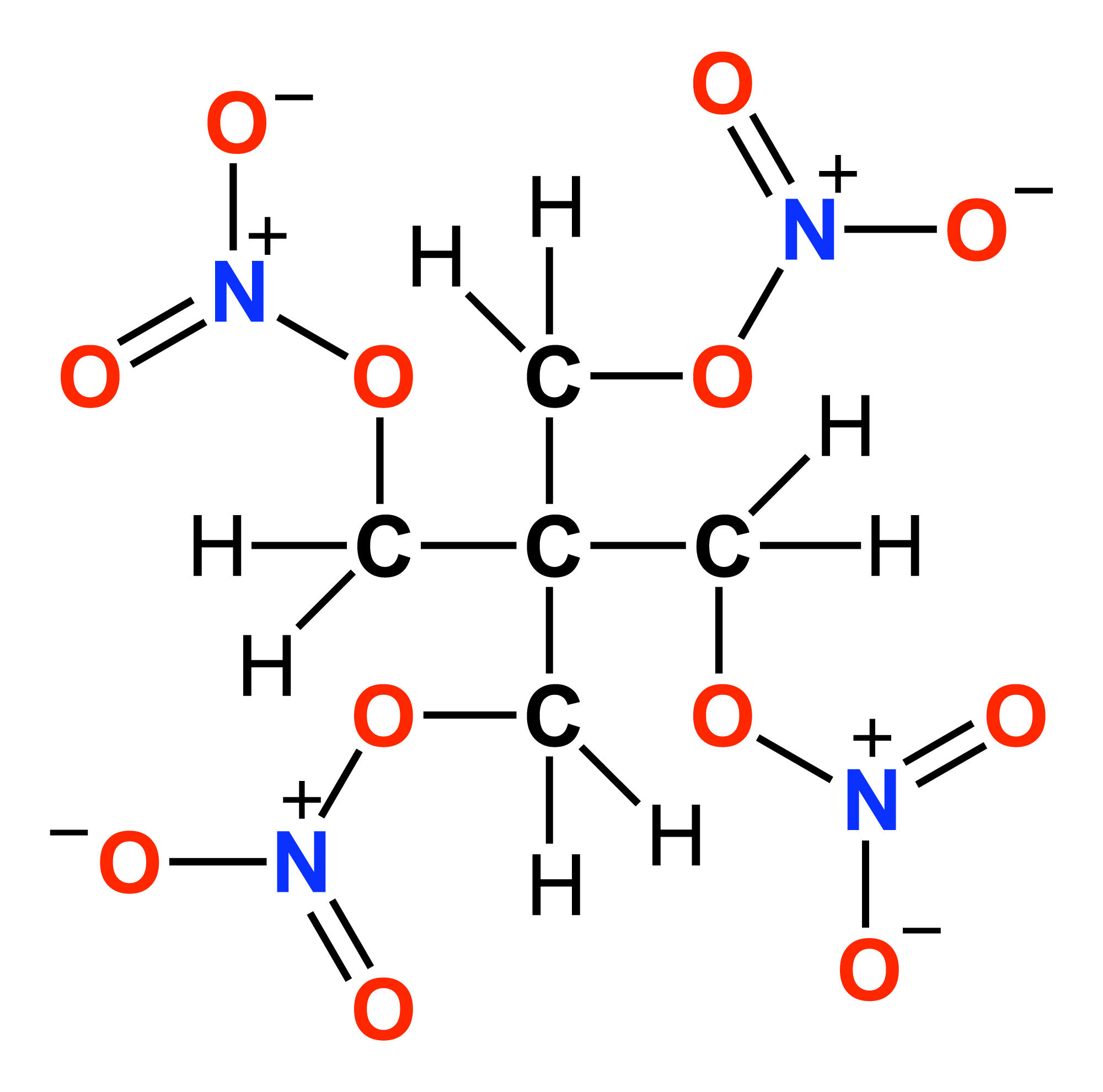 Structural Formula For Oxygen File:petn-structural-formula