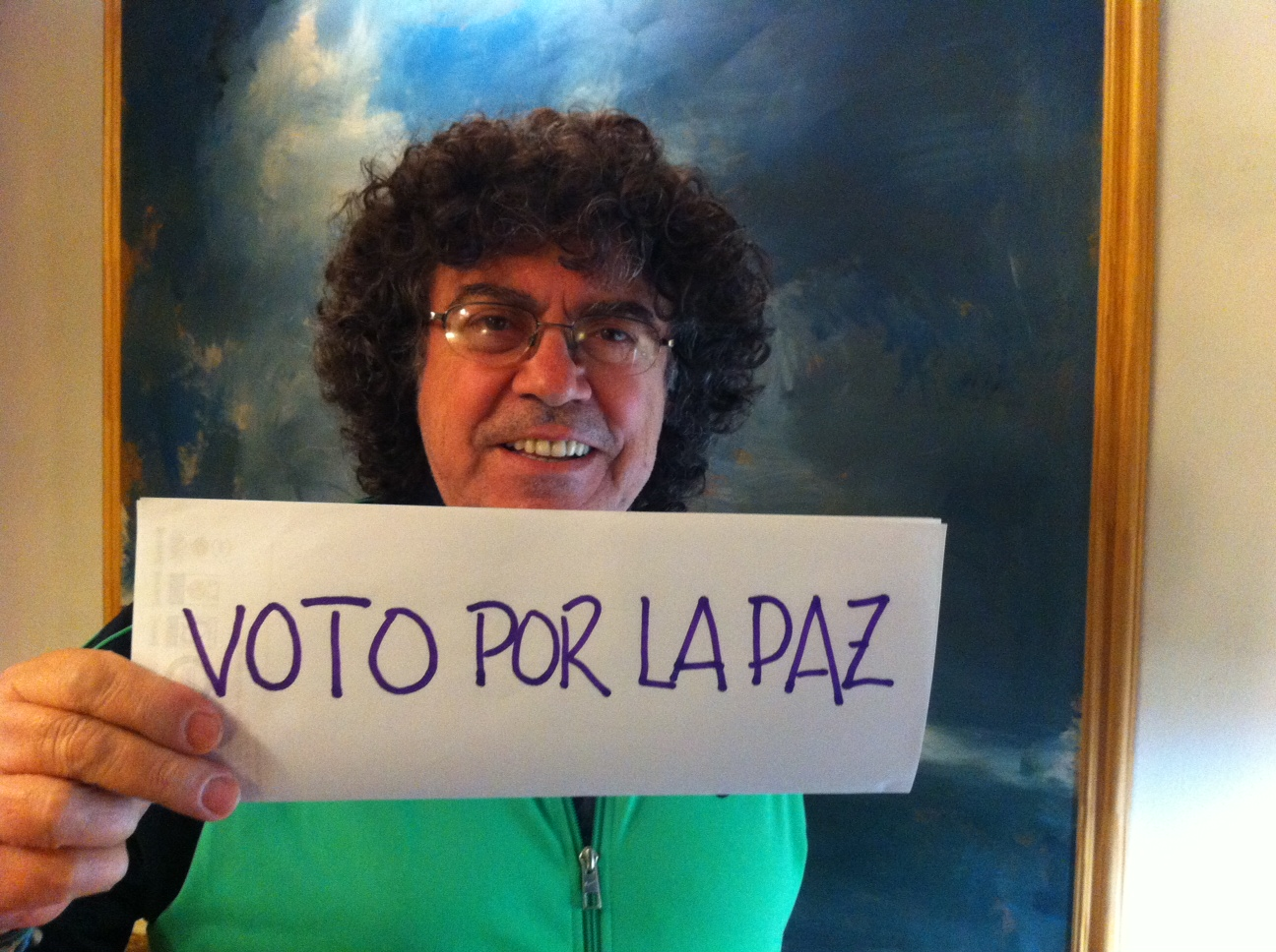 Piero apoya la paz en Colombia.