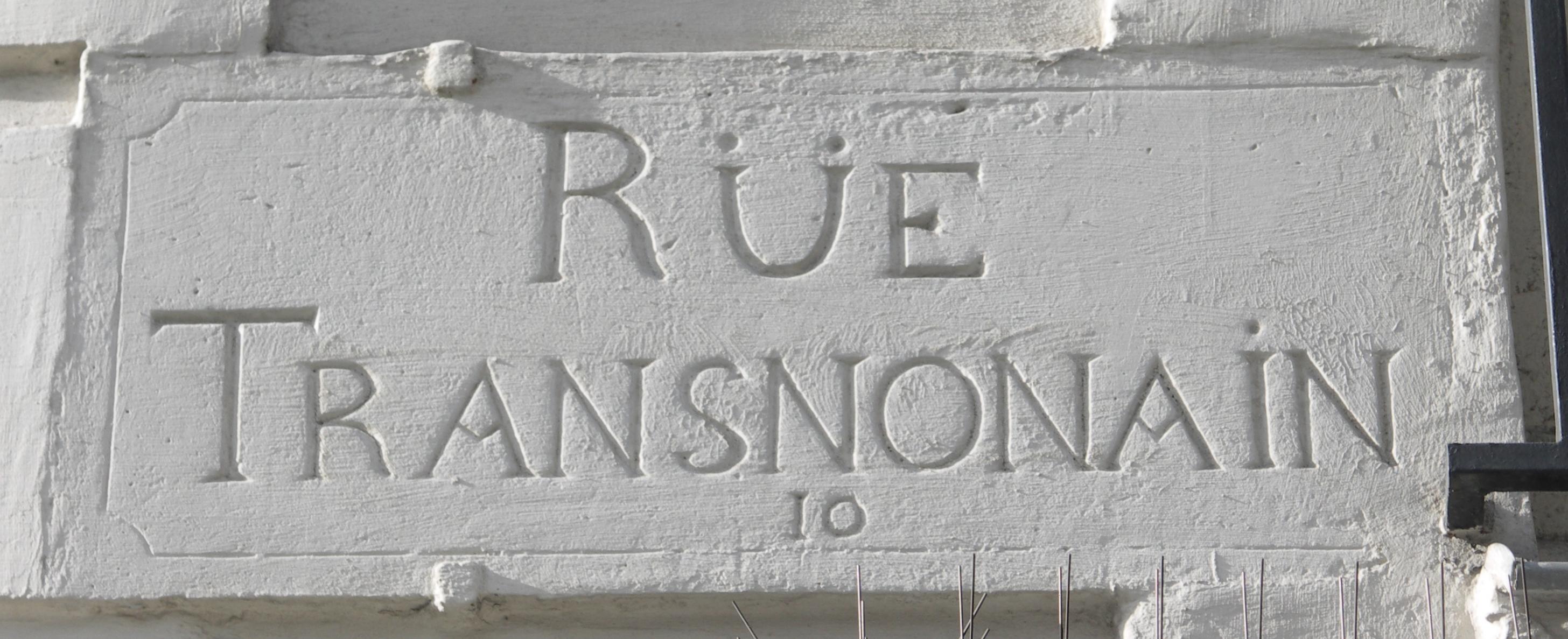 File plaque de nom de rue paris 18e si cle rue transnonain for Plaque nom de maison