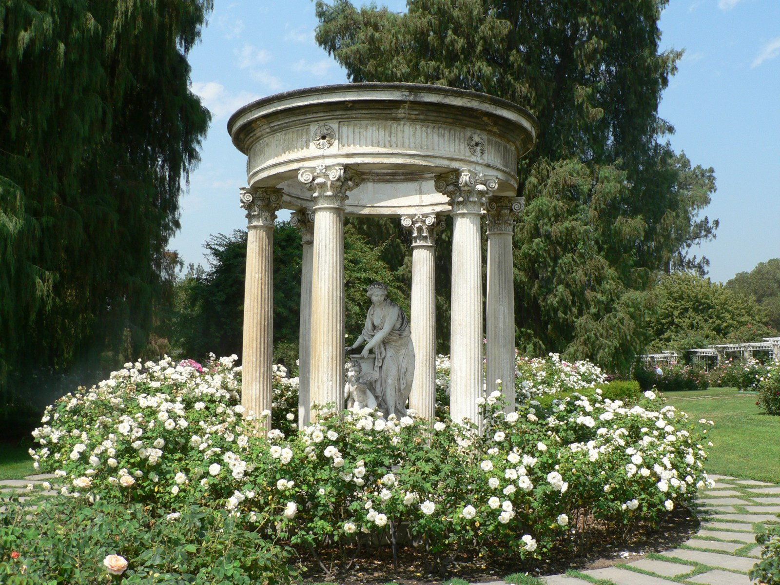 Rose Garden Temple of Love at Huntington Library