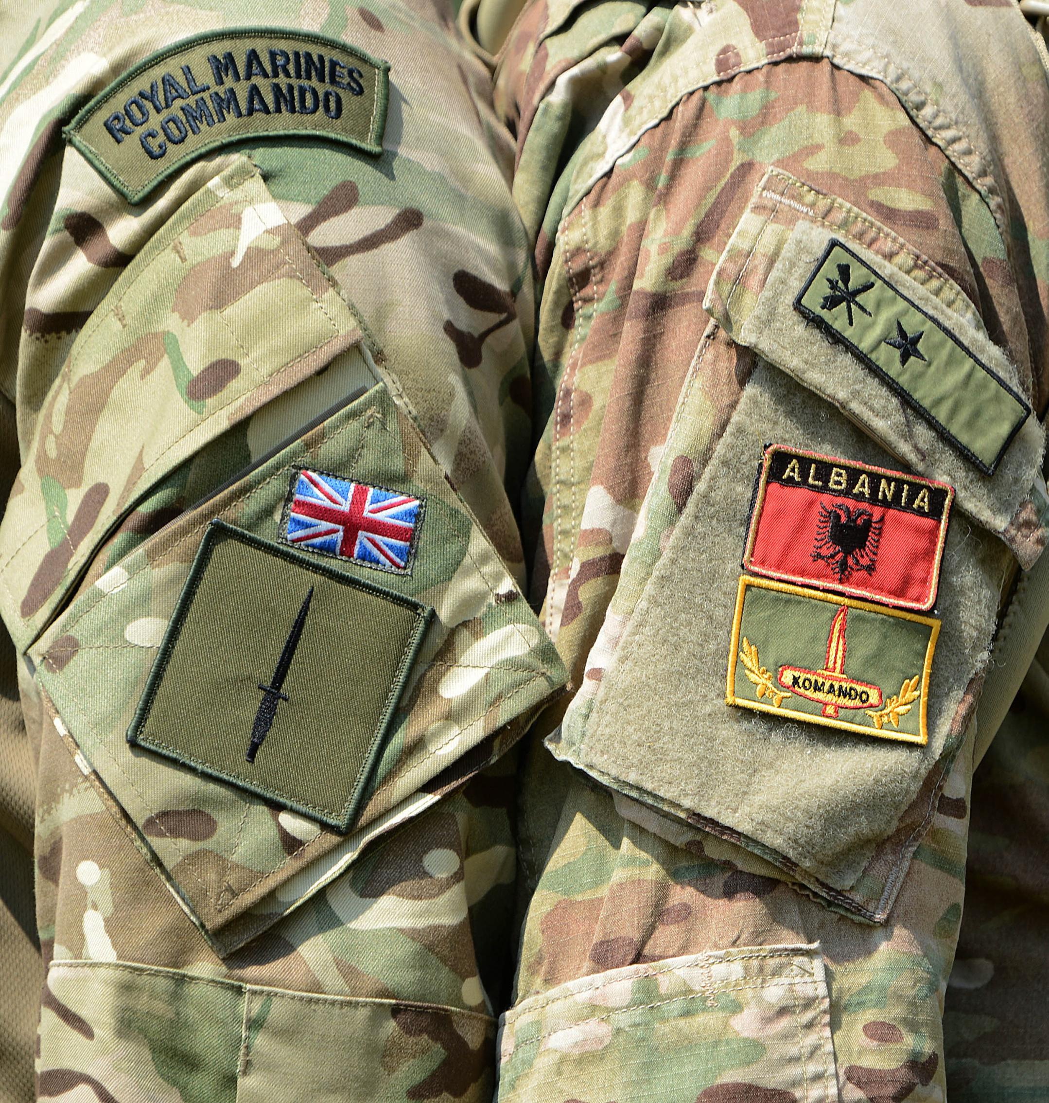Royal Marine and Albanian Commando.jpg