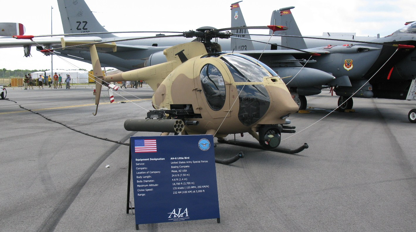 mh 6 helicopter for sale with Boeing Ah 6 on Id 232286 besides T554937p1 moreover Oh 58d Kiowa Warrior as well PAGE8 likewise Boeing Will Begin Production Ah 6i Little Bird Year.
