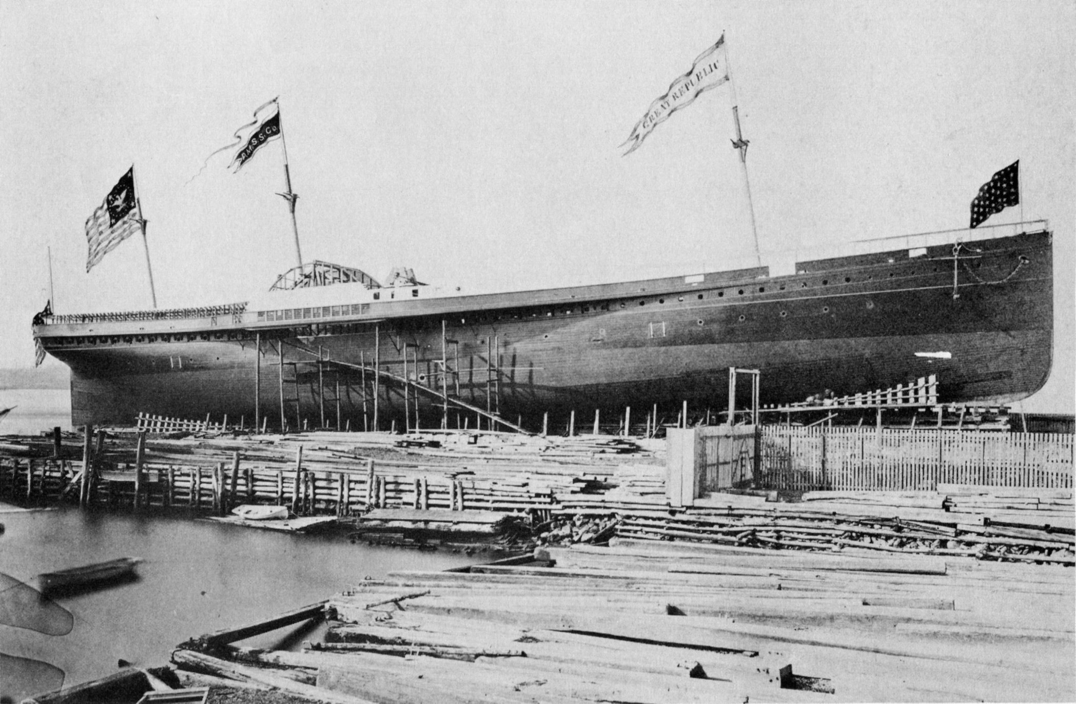 Image result for Steamship S.S. Republic, 1865