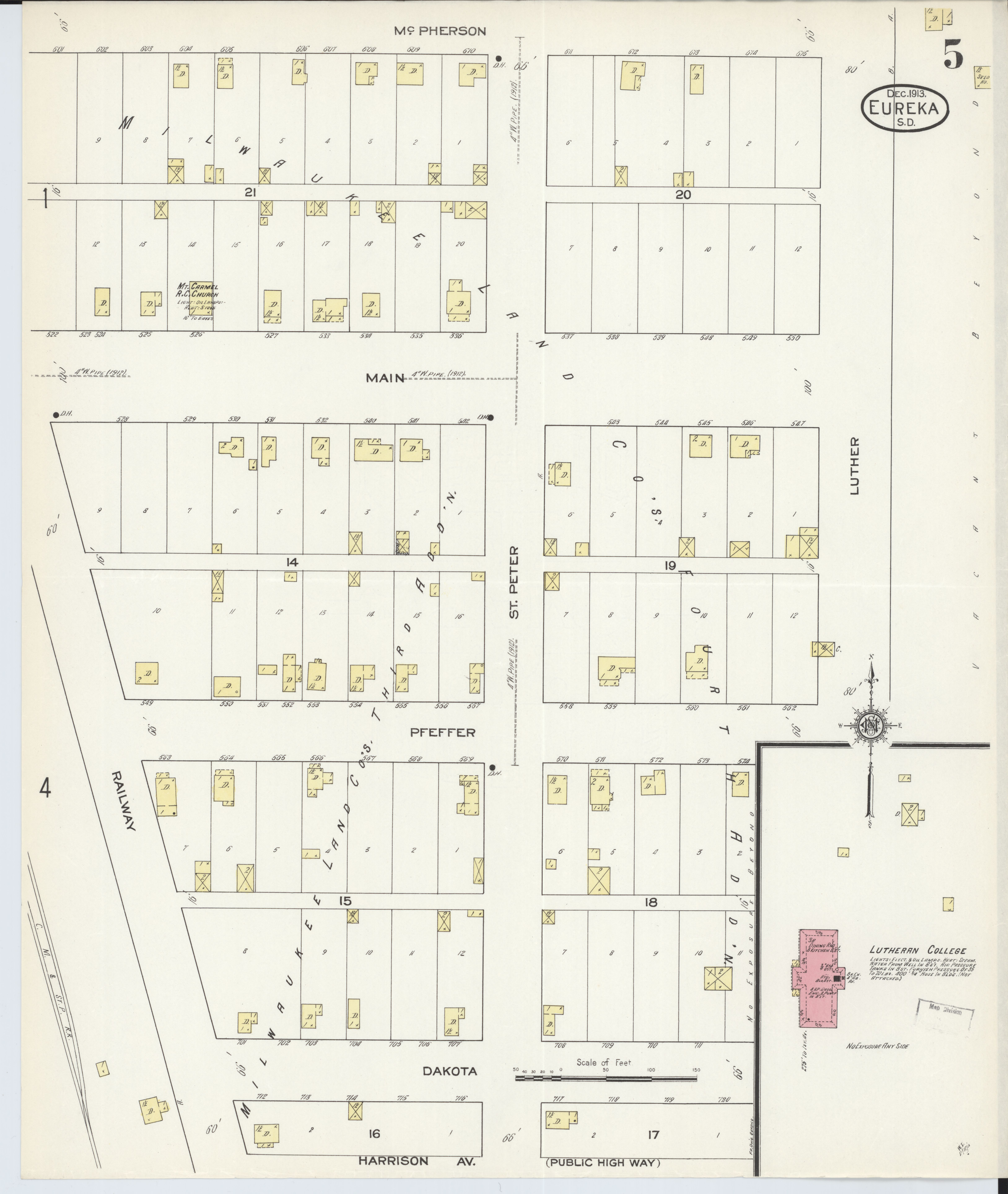 Sanborn Fire Map.File Sanborn Fire Insurance Map From Eureka Mcpherson County South
