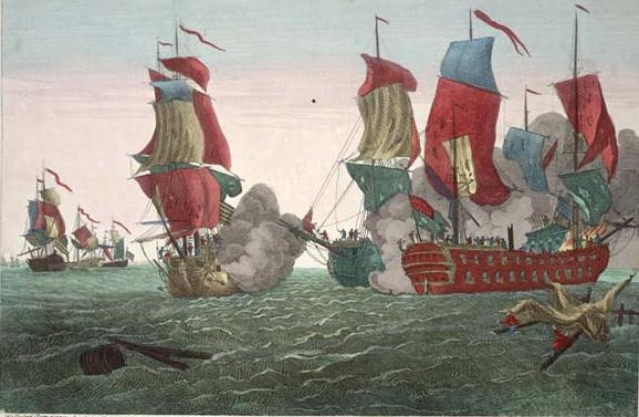 Richard Paton: Action Between the Serapis and Bonhomme Richard