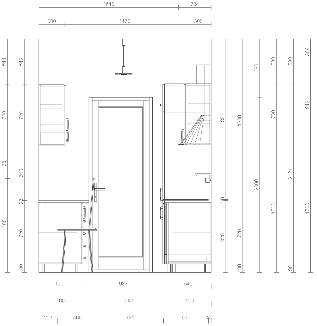 File Small Kitchen E Wall Sketch Png