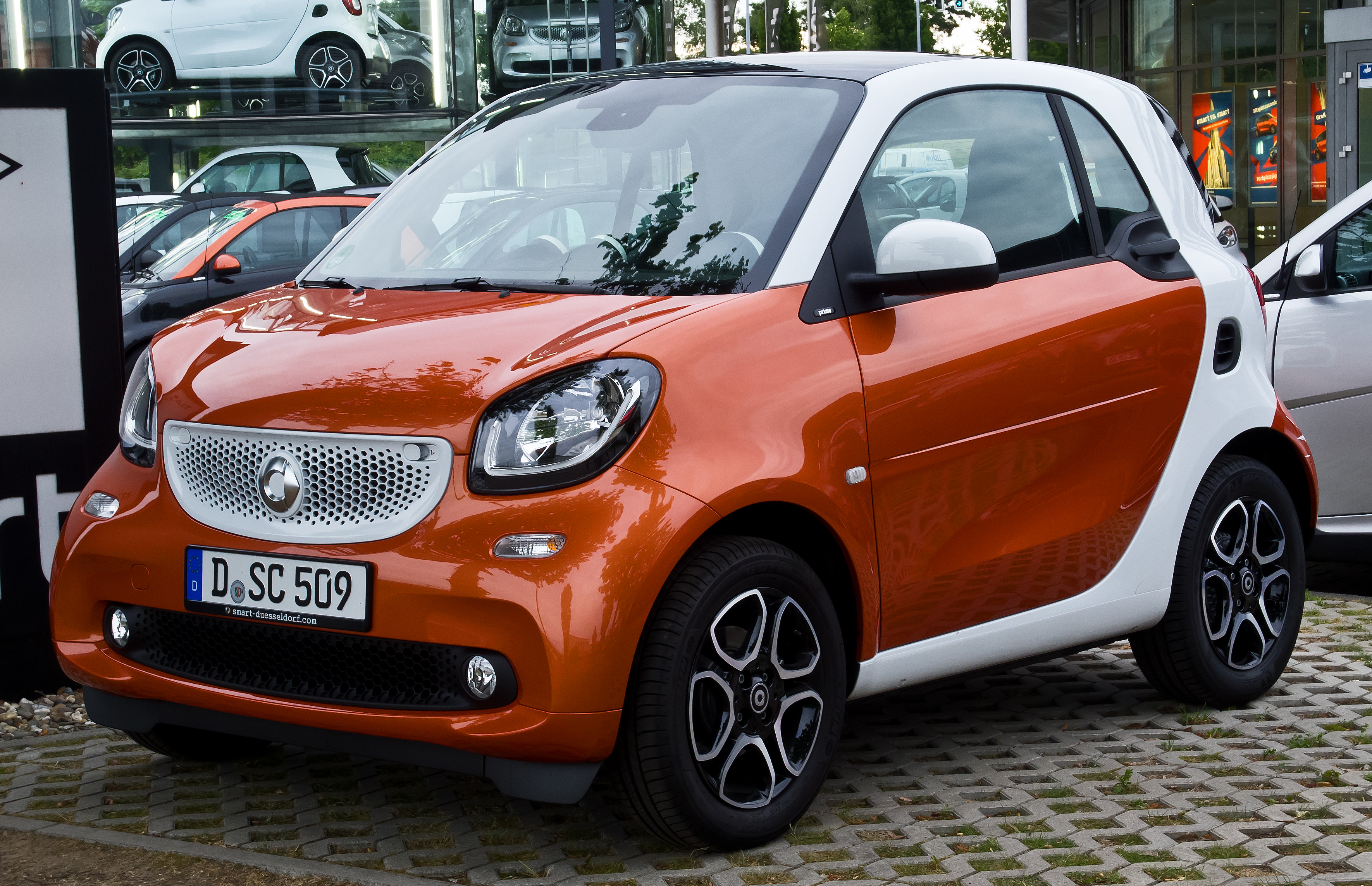 file smart fortwo coup prime c 453 frontansicht 16 juni 2015 d wikimedia. Black Bedroom Furniture Sets. Home Design Ideas