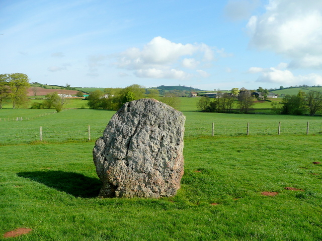Standing stone at Stanton Drew - geograph.org.uk - 1278933