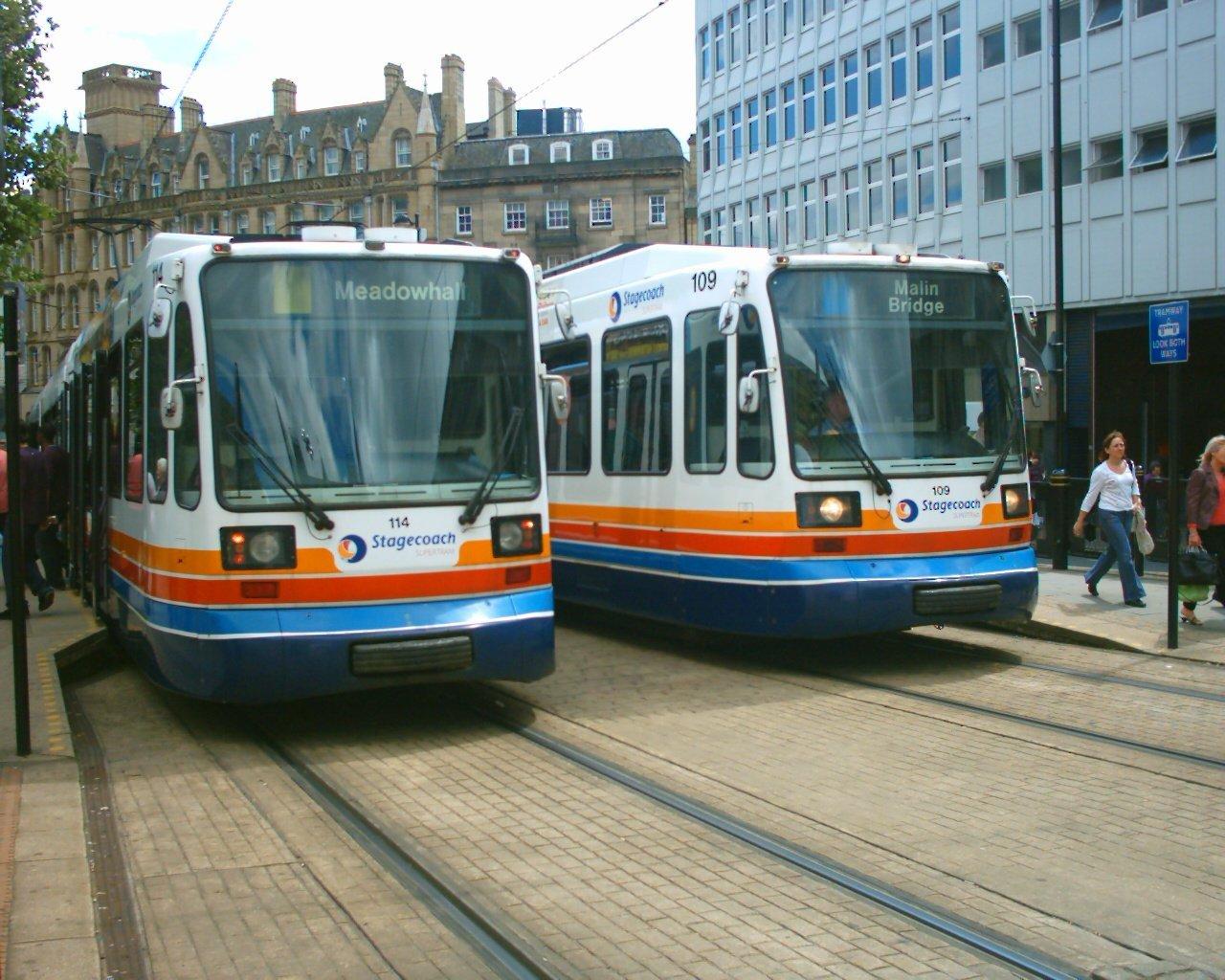 Shefield Supertram 1994 Supertram_Cathedral_02-07-04
