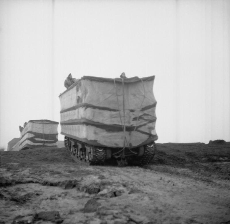 DD Shermans crossing the Rhine