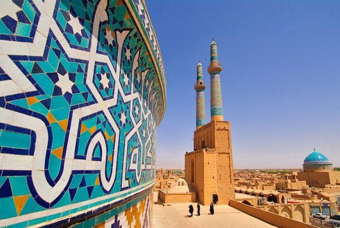 The Jāmeh Mosque of Yazd Iran