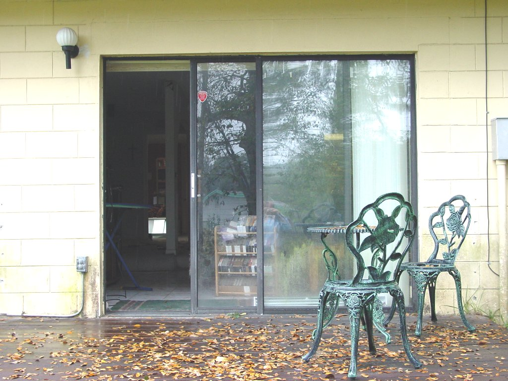 Sliding glass door wikipedia for Backyard sliding door