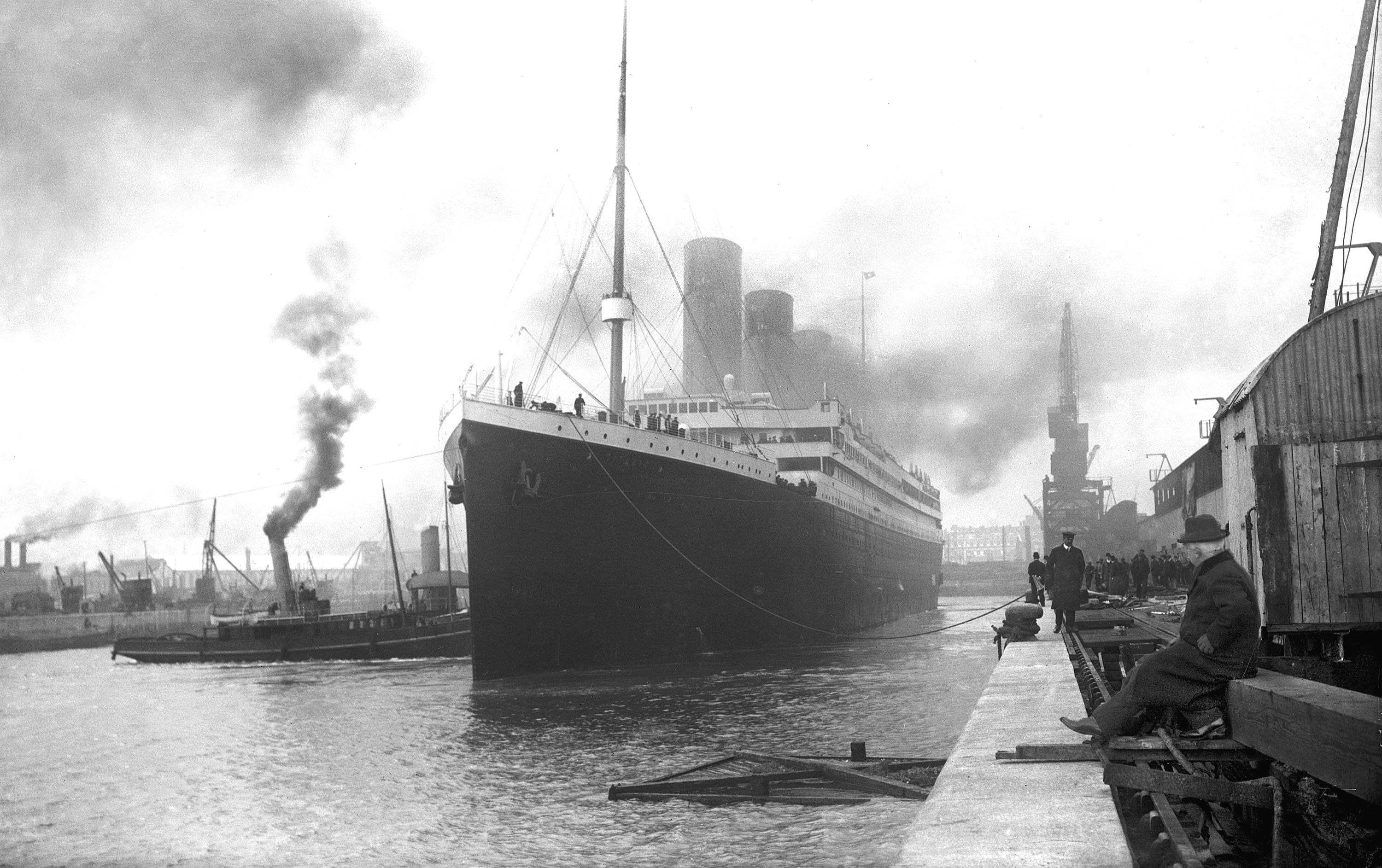 The normal depiction of Titanic at Portsmouth