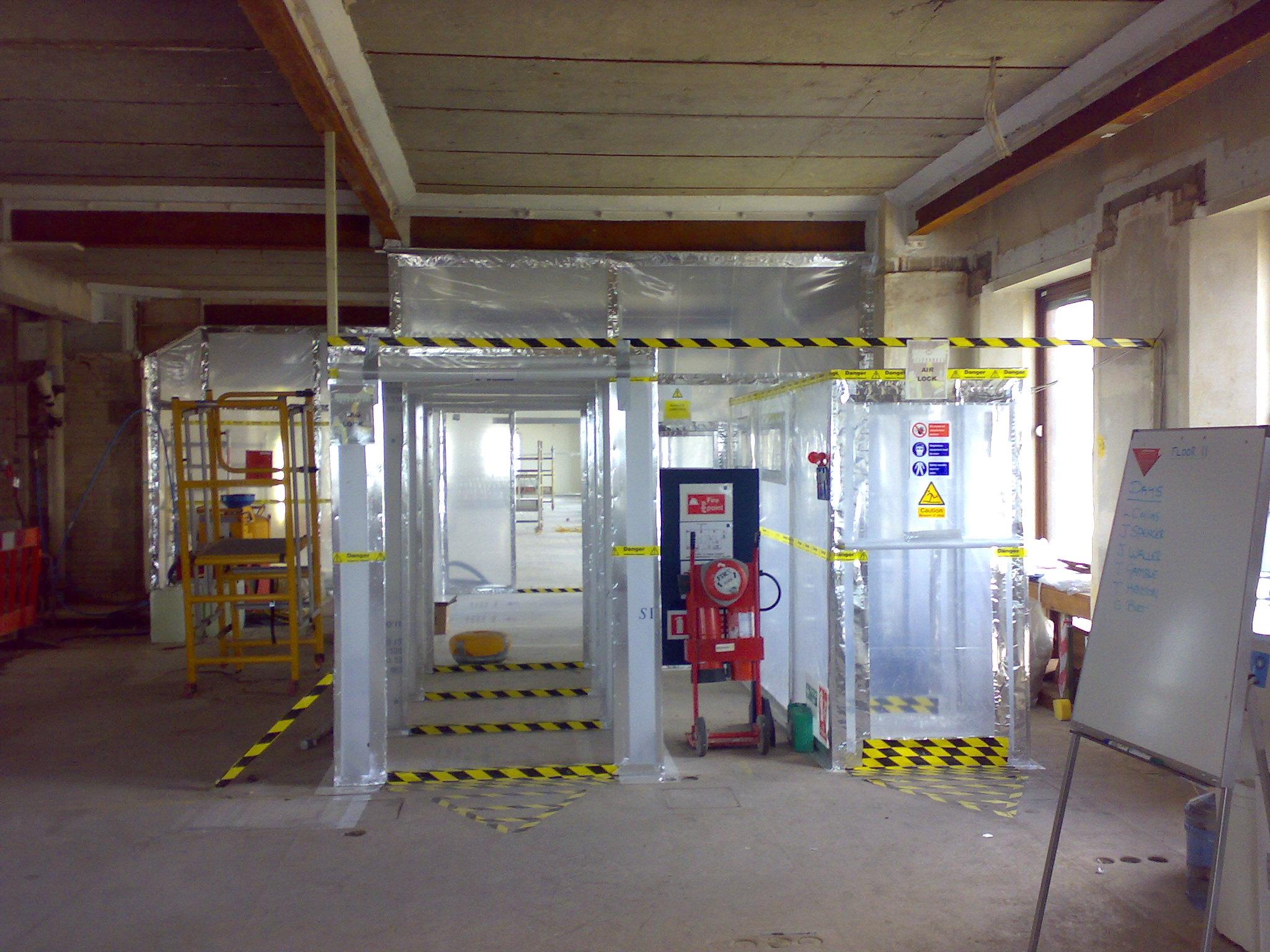File Uk Asbestos Removal Enclosure Jpg Wikimedia Commons