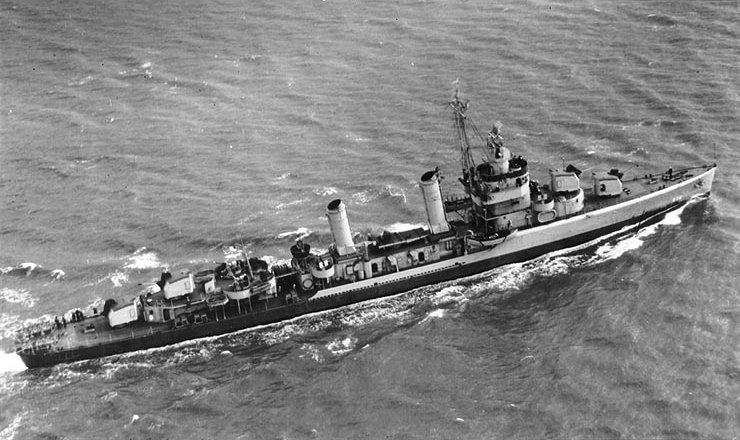 USS Butler (DD-636) underway