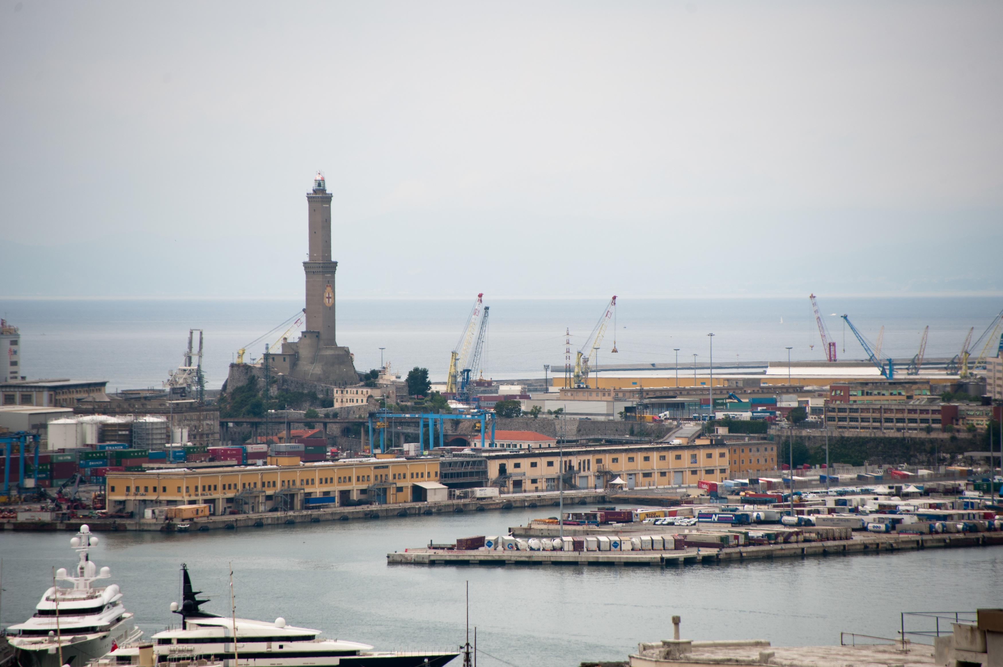 Genoa Port In Italy