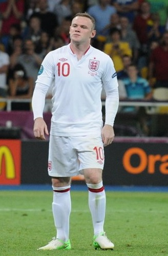 Wayne Rooney – pictured here in 2012 – is now the captain of young English side that is far from valued as an elite European side, following the performances at the 2014 World Cup