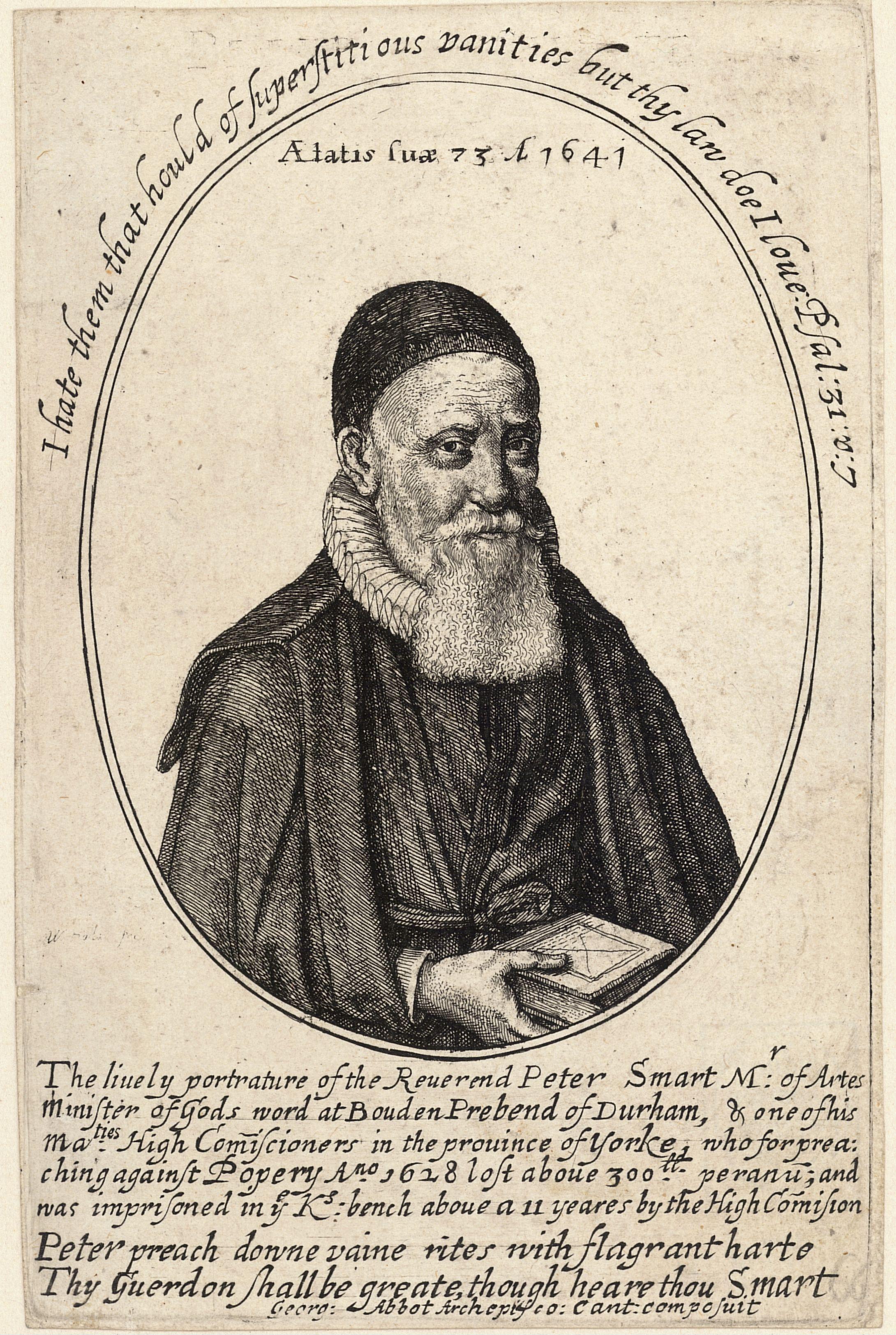 Peter Smart in an engraving by [[Wenceslas Hollar