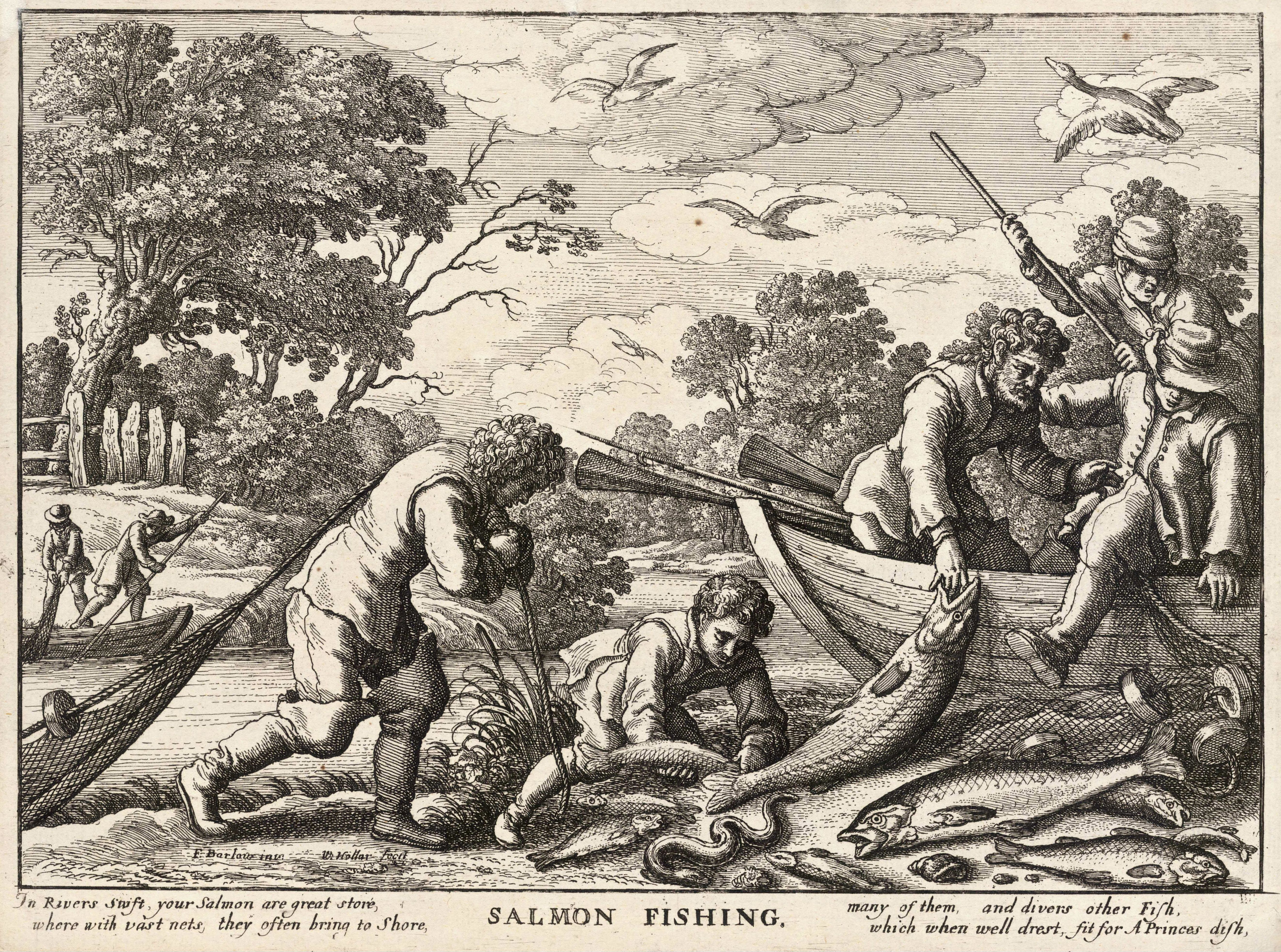 Historic Salmon Fishing in Pacific Northwest Indian