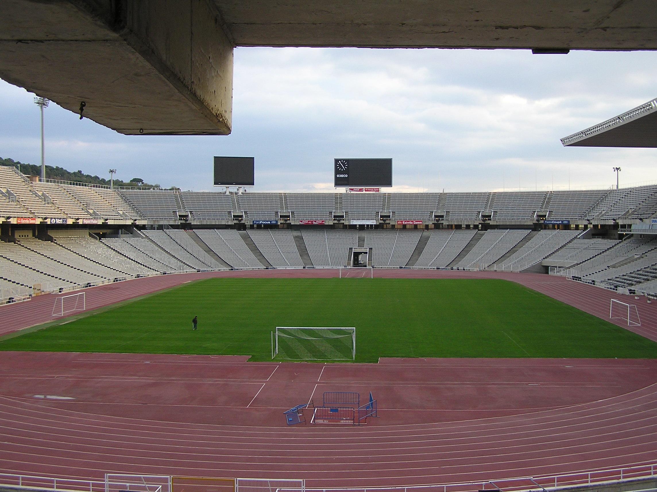 Estadio Olimpico Lluis Companys Wikipedia A Enciclopedia Livre