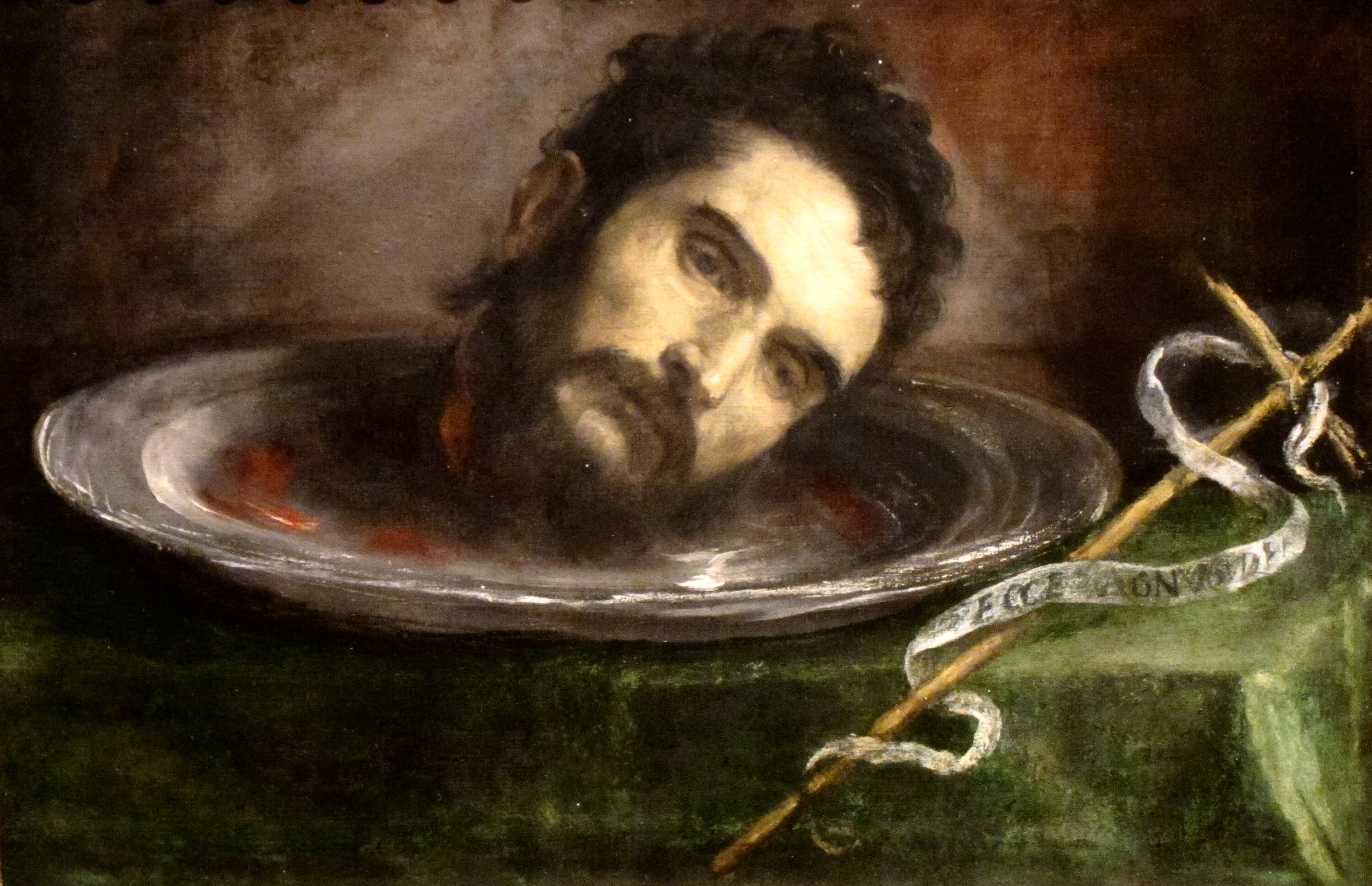 Image result for head on silver plate