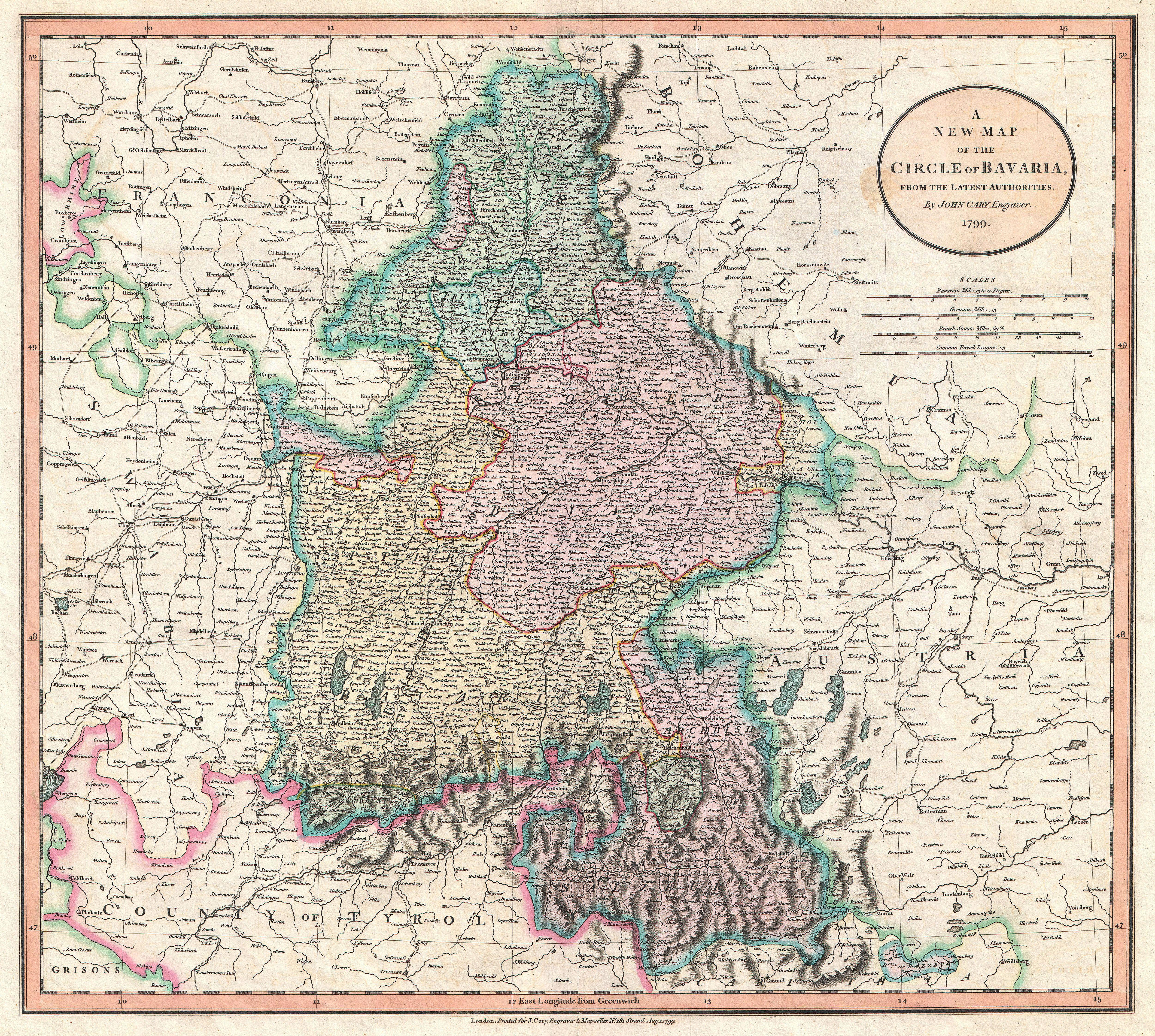 File1799 cary map of bavaria and salzburg germany munich file1799 cary map of bavaria and salzburg germany munich geographicus gumiabroncs Image collections