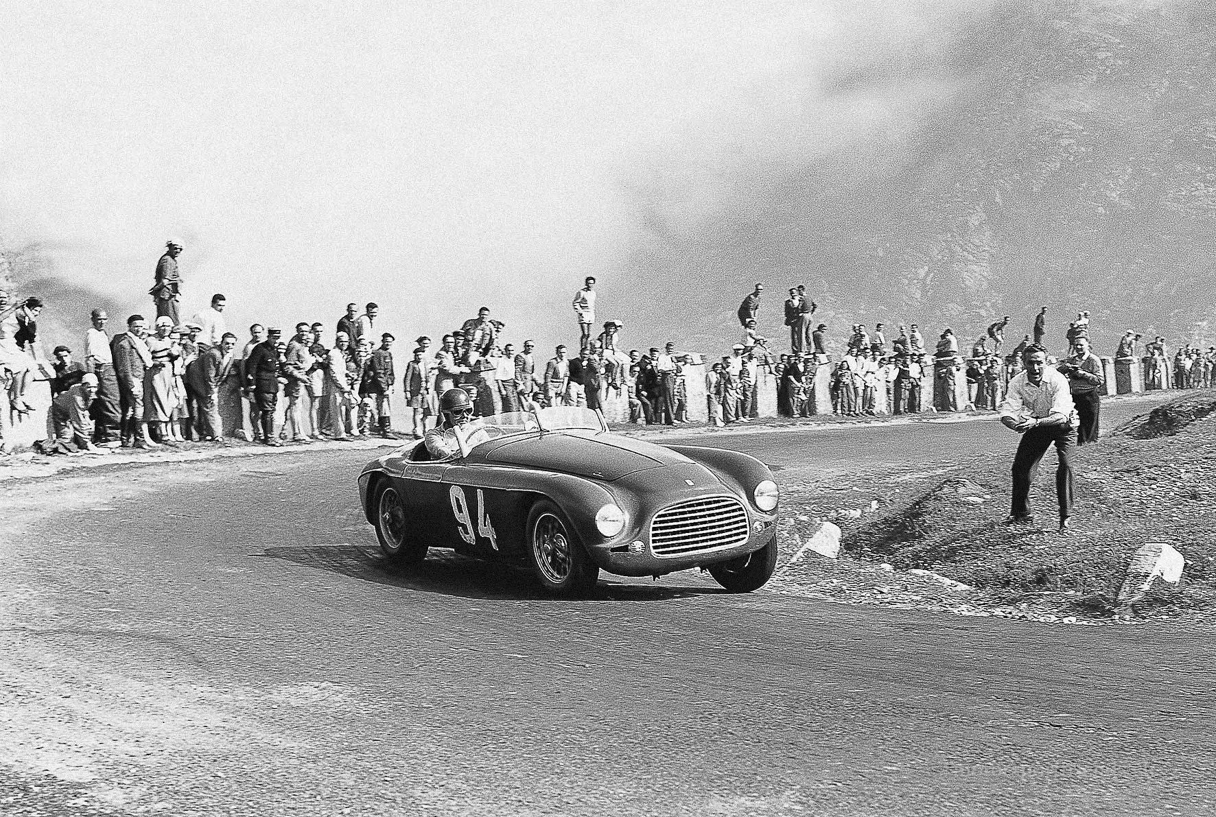 275 S/340 America Touring Barchetta at 1951 Susa-Moncenisio hillclimb
