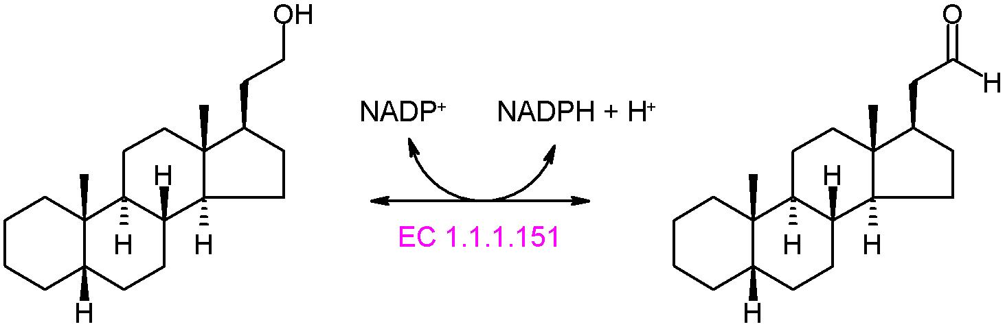 File:21-hydroxysteroid dehydrogenase (NADP+) reaction.PNG